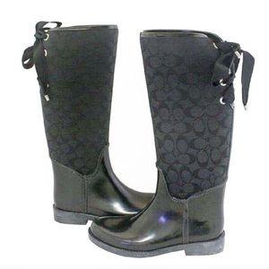 Coach Tristee Monogram Rain Boots
